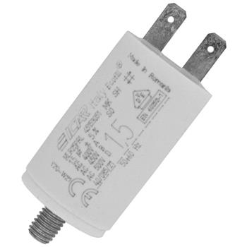Motor-Kondensator KG 1,5µF 450V 30x51mm - Stecker