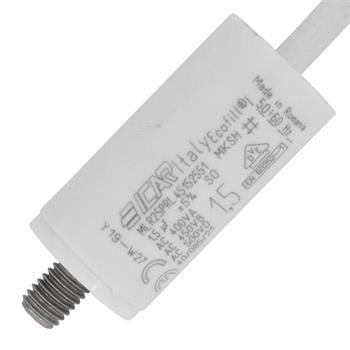 Motor-Kondensator KG 1,5µF 450V 25x51mm - Kabel
