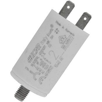Anlaufkondensator Motorkondensator 2µF 450V 30x51mm Stecker 6,3x0,8mm ICAR 2uF