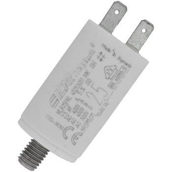 Anlaufkondensator Motorkondensator 2,5µF 450V 30x51mm Stecker 6,3x0,8mm ICAR 2,5uF