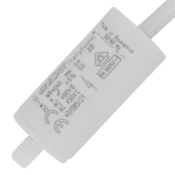 Motor-Kondensator KG 4µF 450V 25x51mm - Kabel