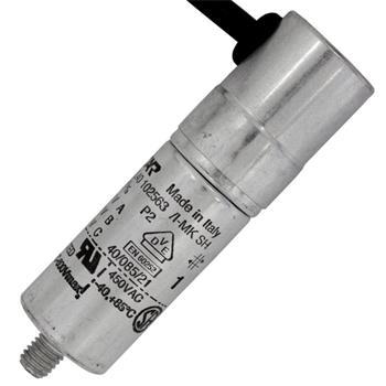 Anlaufkondensator Motorkondensator 1µF 450V 25x86mm Kabel 45cm ICAR 1uF