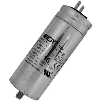 Motor-Kondensator MG 16µF 450V 40x103mm - Stecker