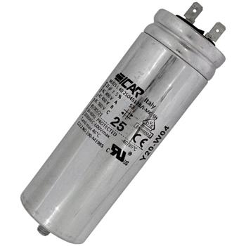 Motor-Kondensator MG 25µF 450V 45x128mm - Stecker