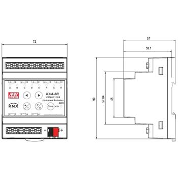 KNX Steuerung Controller MeanWell KAA-8R 8 Kanäle je 16A
