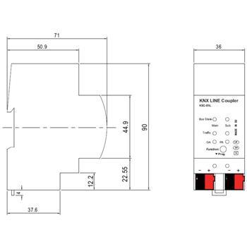 KNX Leitungskoppler Line Coupler MeanWell KSC-01L