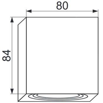 LED Aufbaurahmen Quadratisch 80x80x84mm Aluminium Schwenkbar Spot GU10 MR16