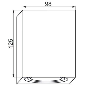 LED Aufbaurahmen Quadratisch 98x98x125mm Aluminium Schwenkbar Spot GU10 MR16