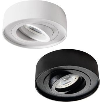 LED Aufbaurahmen Rund 90x65mm Aluminium Spot GU10 MR16