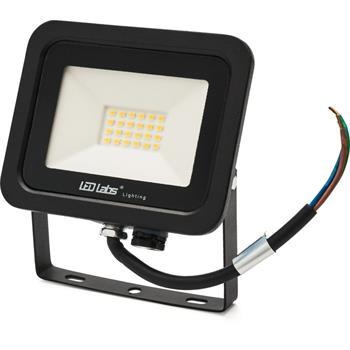 LED Flutlicht Strahler 20W 1700lm Neutral Weiß 4000K 126x110x26mm Schwarz -35...+55°C IP65 110° CRI