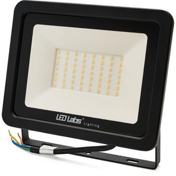 LED Flutlicht Strahler 50W 4250lm Neutral Weiß 4000K 205x160x31mm Schwarz -35...+55°C IP65 110° CRI