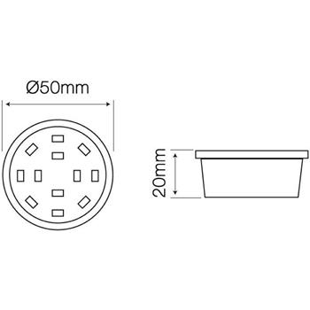 LED Spotlight Modul dimmbar 5W 400lm Lampe 110° 50x20mm GU10 MR16 Ersatz 230V AC SMD 2835 CRI80+