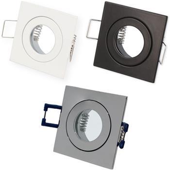 LED Einbaurahmen Bad Feuchtraum Quadratisch IP44 55x55x21mm Aluminium Schwenkbar Spot GU4 MR11