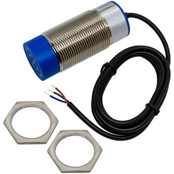 Näherungsschalter Induktiv 30mm M30 NPN Öffner 6...36V DC IP67 Sensor Messing vernickelt -30...+65°C