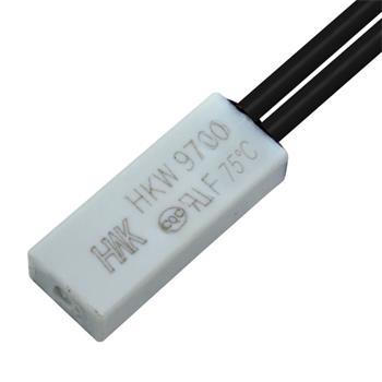Thermoschalter 75°C Schließer 250V 5A Kabel Temperaturschalter Thermostat Bimetall Thermoschutz