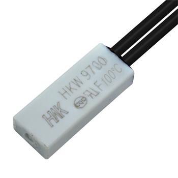 Thermoschalter 100°C Schließer 250V 5A Kabel Temperaturschalter Thermostat Bimetall Thermoschutz