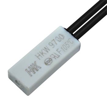 Thermoschalter 105°C Öffner 250V 5A Kabel Temperaturschalter Thermostat Bimetall Thermoschutz
