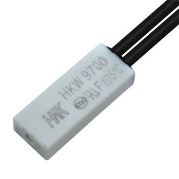 Thermoschalter 105°C Schließer 250V 5A Kabel Temperaturschalter Thermostat Bimetall Thermoschutz