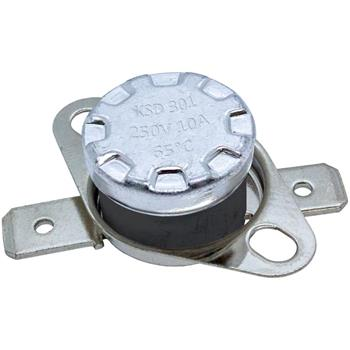 Thermoschalter 65°C Öffner 250V 10A Temperaturschalter Thermostat KSD301 Bimetall Thermoschutz