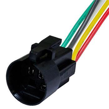 Steckverbinder für 19mm Taster Schalter 5x 0,5mm² Kabellänge: 140mm