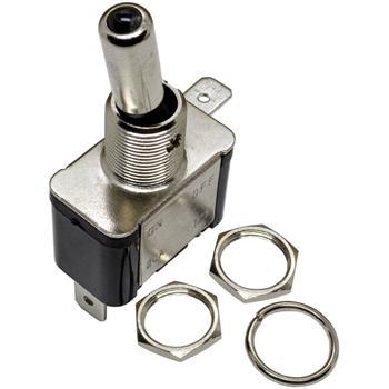 Edelstahl Wippschalter Ausschalter Ø12mm 45x18x23mm 6,3x0,8mm Flachstecker 20V 12A -25...+85°C