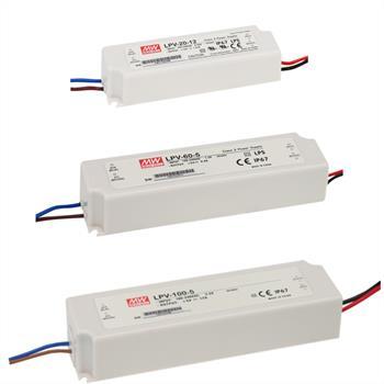 MeanWell LED-Netzteile LPV-Serie / Schaltnetzteile 5V 12V 15V 24V 36V 48V
