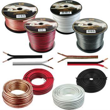 Lautsprecherkabel 100% CCA Kupfer - div Läng. + Querschn ; Audiokabel Boxenkabel