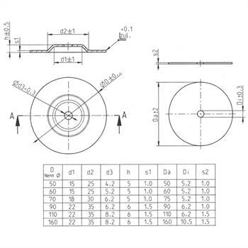 Befestigung Zubehör versch Größen Ringkerntrafo Montageset Montagezubehör