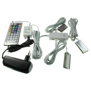 Konfigurator: RGB LED Glaskantenbeleuchtung / Schrank- & Vitrinenbeleuchtung