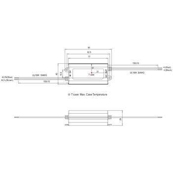 LED Netzteil 16W 12-48V 350mA ; MeanWell, APC-16-350 ; Konstantstrom