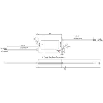 LED Netzteil 25W 9-24V 1050mA ; MeanWell, APC-25-1050 ; Konstantstrom