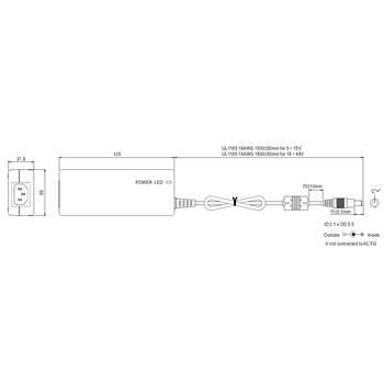 Tischnetzteil 40W 12V 3,34A ; MeanWell GST40A12-P1J ; Trafo Treiber ; 5,5/2,1mm