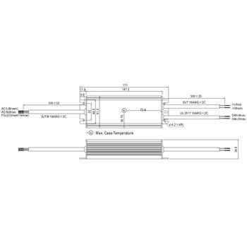 LED Netzteil 60W 24V 2,5A ; MeanWell HLG-60H-24B ; dimmbar 1-10V PWM