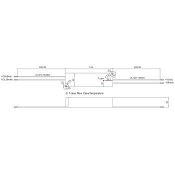 MeanWell LPC-35-1050 32W 1050mA 9...30VDC Konstantstrom LED Netzteil IP67