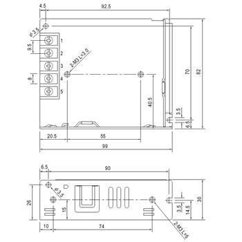 Schaltnetzteil / Netzteil 50W 5V 10A ; MeanWell LRS-50-5 ; Trafo Treiber