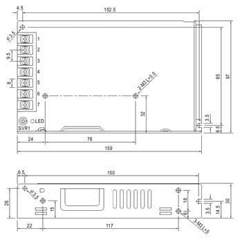 Schaltnetzteil / Netzteil 150W 12V 12,5A ; MeanWell LRS-150-12 ; Trafo Treiber