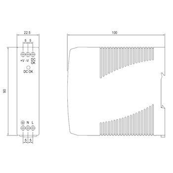 Hutschienen Netzteil 10W 5V 2A ; MeanWell, MDR-10-5 ; Hutschienennetzteil