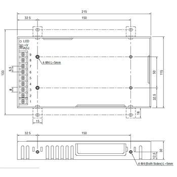 Schaltnetzteil / Netzteil 200W 5V 40A ; MeanWell, RSP-200-5