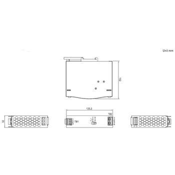 Hutschienen Netzteil 75W 12V 6,3A ; MeanWell SDR-75-12 ; DIN-Rail Trafo