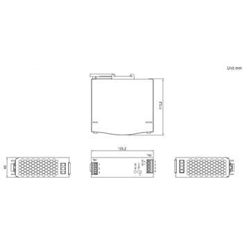 Hutschienen Netzteil 120W 12V 10A ; MeanWell SDR-120-12 ; DIN-Rail Trafo