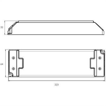 LED Netzteil 24V 150W 6,25A ; Self SLT150-24VL-E ; Schaltnetzteil Treiber Trafo