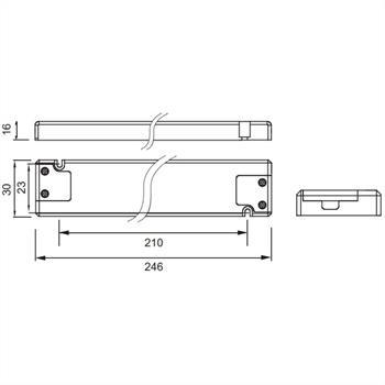 LED Netzteil 12V 30W 2,5A für Möbel extrem flach 16mm ; Self SLT30-12VFG