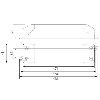 LED Netzteil 12V 60W 5A ; Self SLT60-12VLG-E ; Schaltnetzteil Treiber Trafo