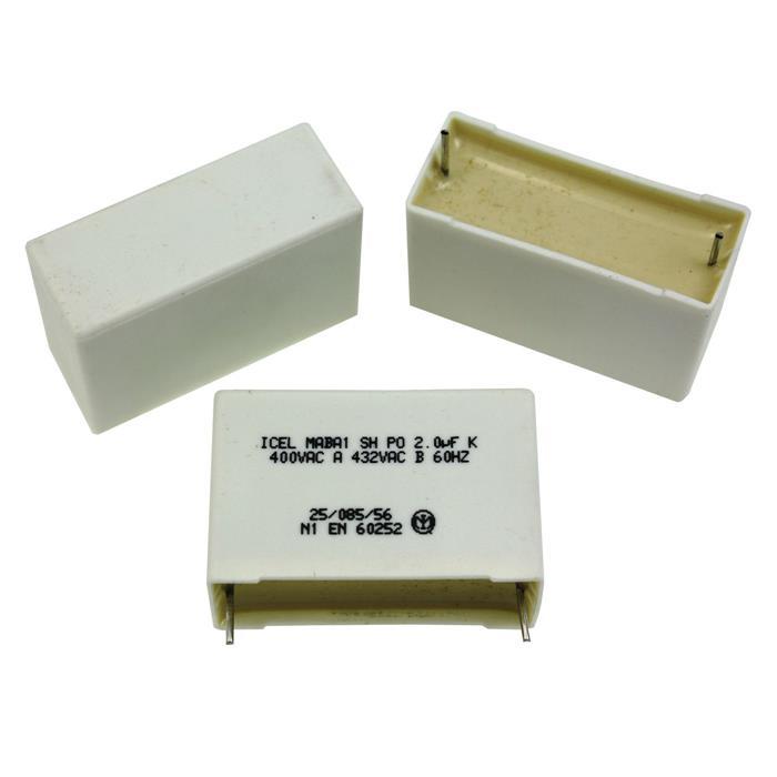 M0618 DDR 400V Flachsteckanschluss Elko 1 Stück RFT Kondensator 2 µF