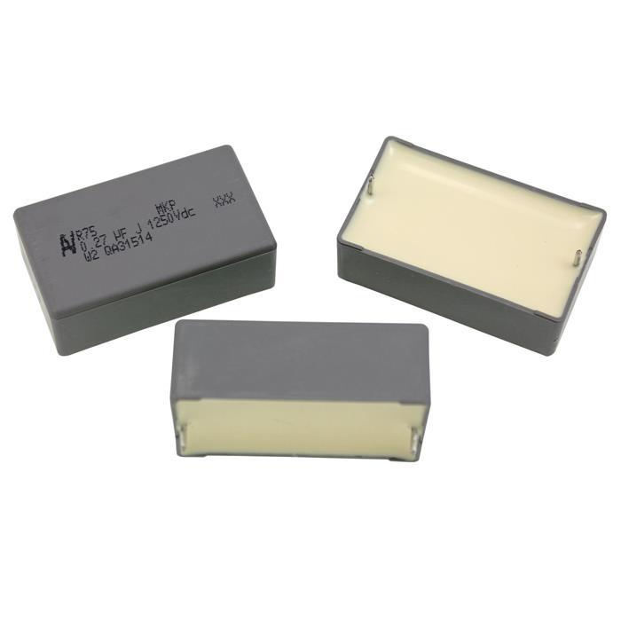 5x MKP-Kondensator radial 0,27µF 1250V DC ; RM37,5 ; R75RW3270ZMK0J ; 270nF