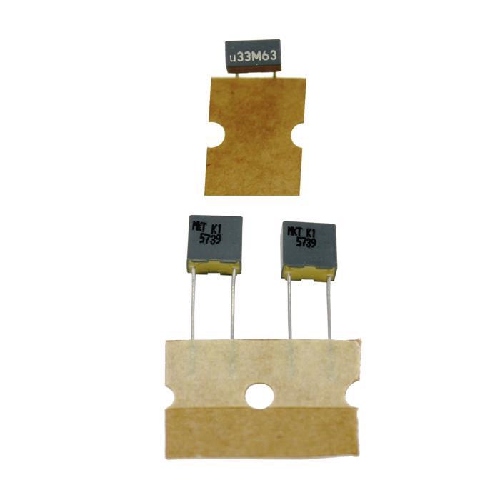 MKT Folien Kondensator Radial 0,33µF 63V DC Arcotronics R82DC33303305M 330nF
