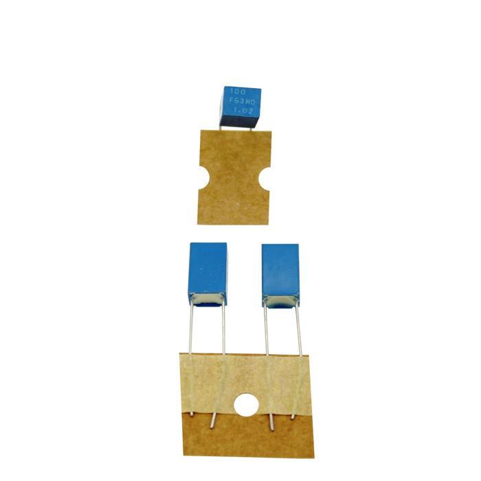 KP-Kondensator radial 0,1nF 63V DC ; RM5 ; P12DM09001900F ; 100pF