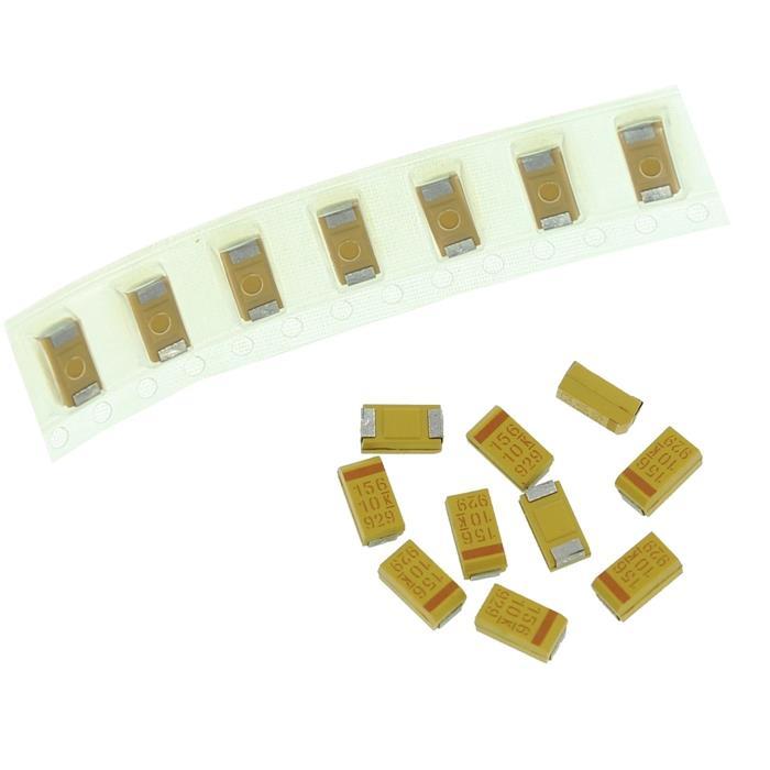 Tantal Kondensator SMD C 15µF 10V 125°C 6x3,2mm Kemet T491C156M010AS 15uF