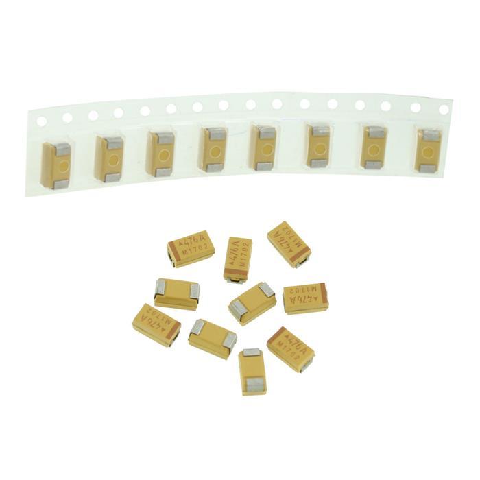 Tantal Kondensator SMD C 47µF 10V 125°C 6x3,2mm AVX TAJC476M010R 47uF