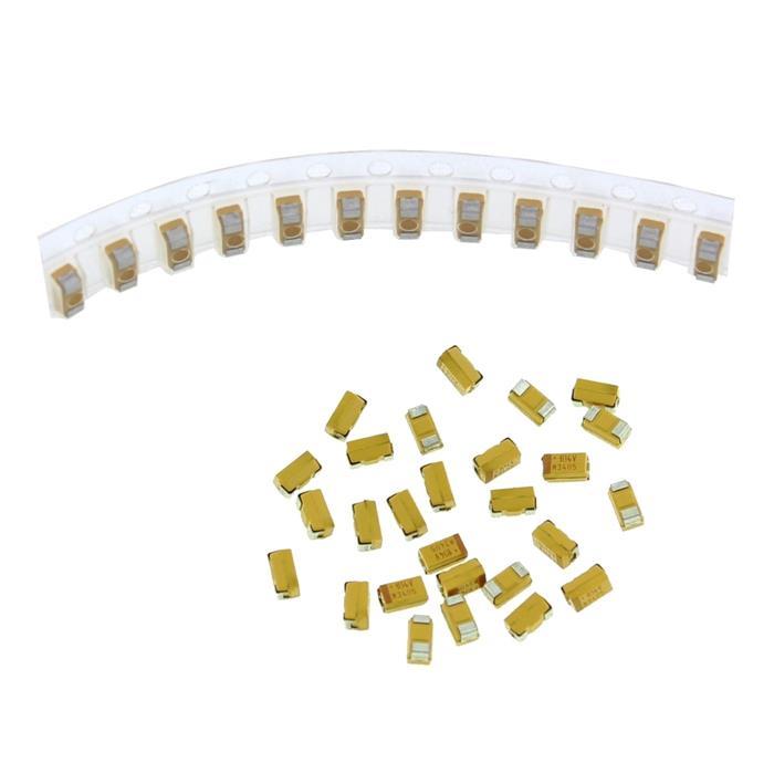 Tantal Kondensator SMD A 0,1µF 35V 125°C 3,2x1,6mm AVX TAJA104K035R 0,1uF